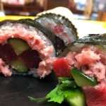 恵方巻き 米っ子寿司龍巳では人気の本マグロ、サーモンで承ります。